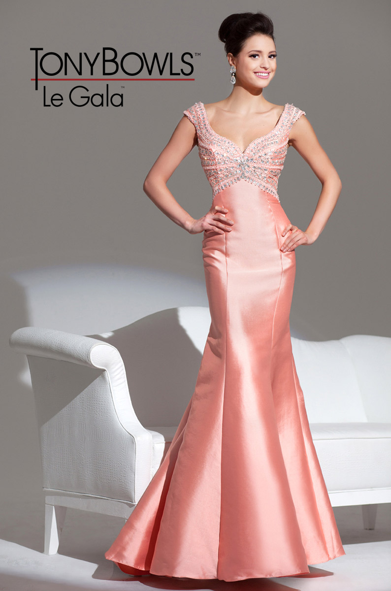 Tony Bowls Le Gala 115562 Gown With Rhinestones French