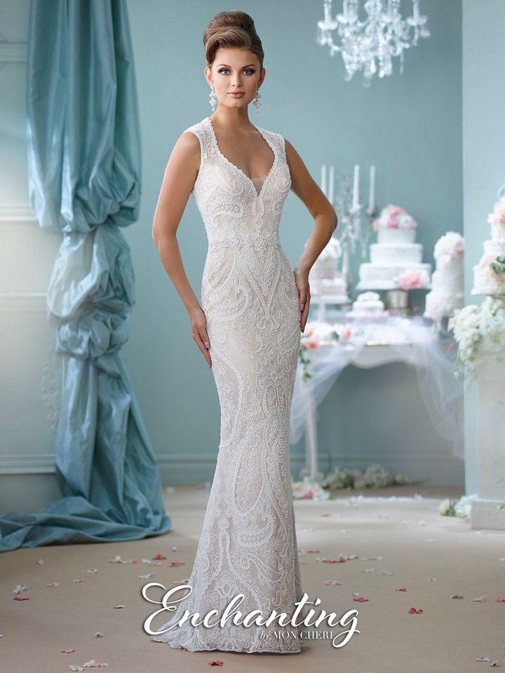 Enchanting by mon cheri 116123 informal wedding gown for Mon cheri wedding dress prices