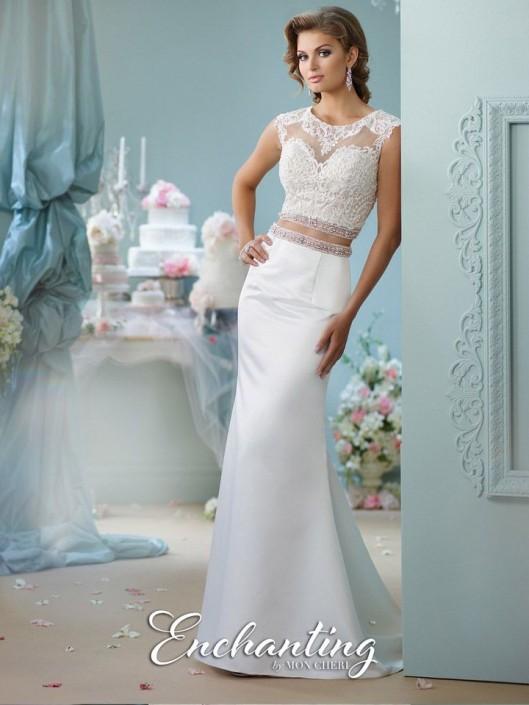 Enchanting By Mon Cheri 116131 2pc Destination Wedding Gown