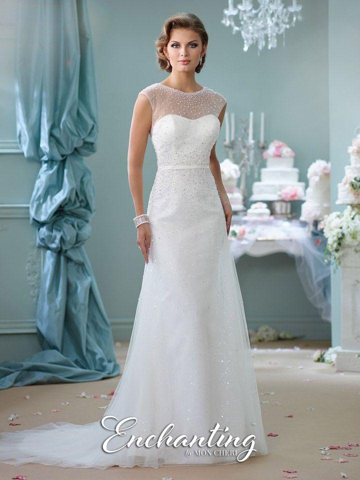 Enchanting by mon cheri 116142 destination wedding gown for Mon cheri wedding dress prices