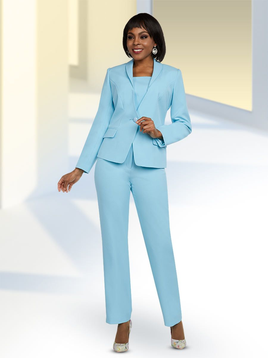 Ben Marc Executive 11646 Ladies Pant Suit: French Novelty