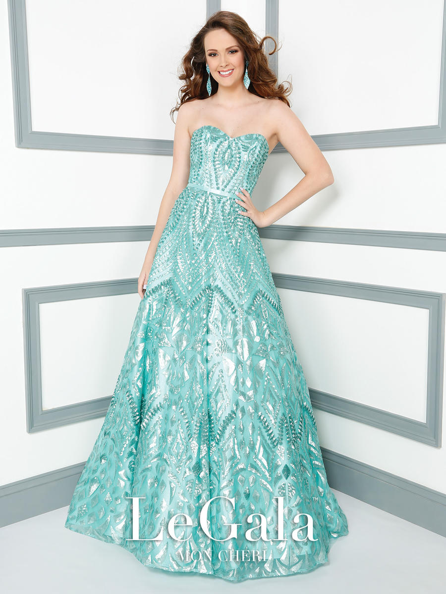 Mon Cheri Le Gala 116537 Allover Sequin Gown: French Novelty