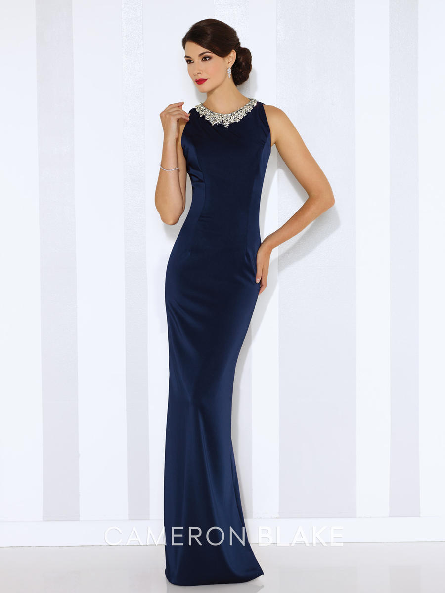Cameron Blake 116659 Jewel Neck Formal Gown: French Novelty
