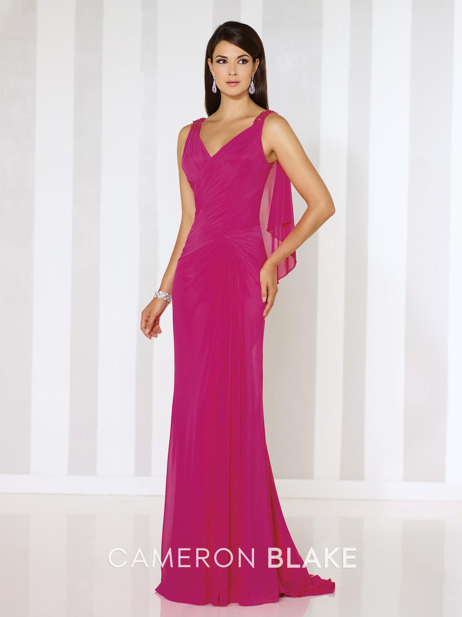 Cameron Blake 116661 MOB Gown with Attached Cape: French Novelty