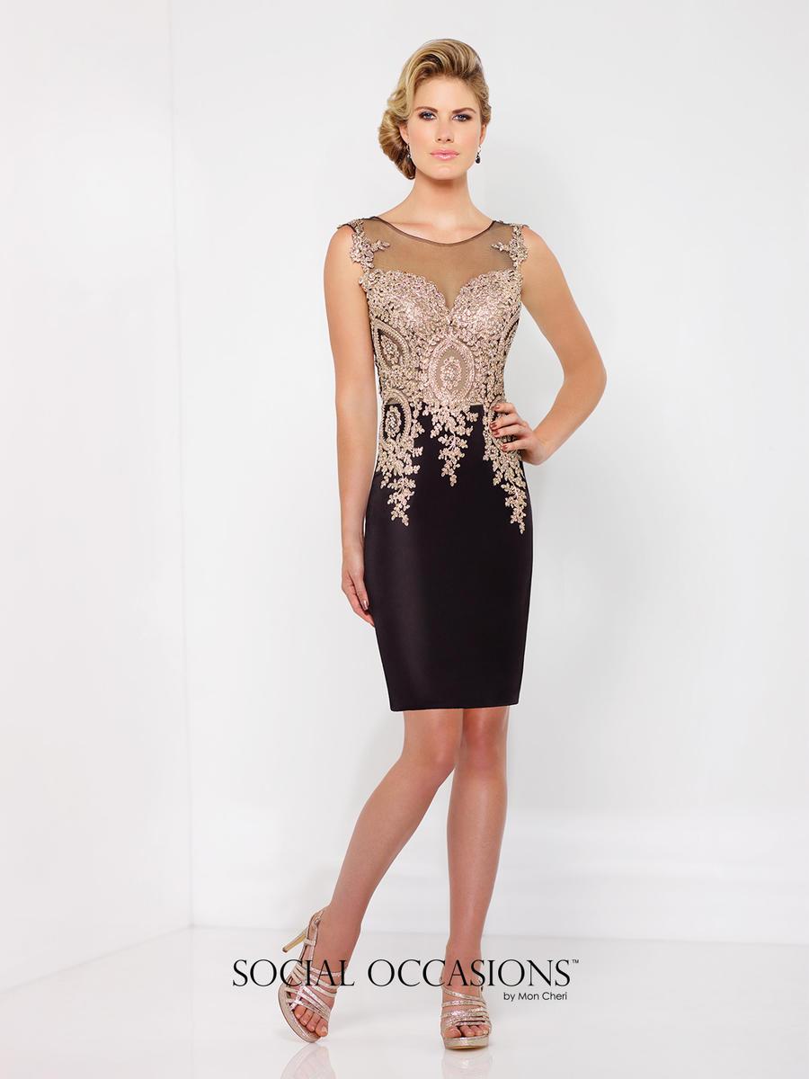 Social Occasions by Mon Cheri 116855 Novelty Crepe Short Dress ...