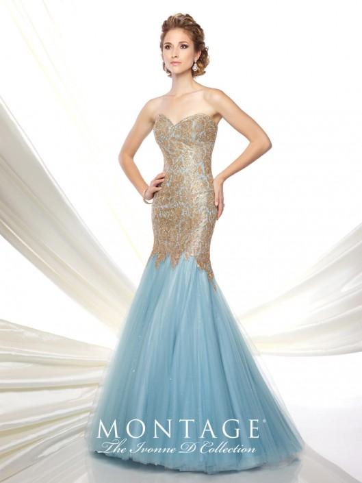Ivonne D for Mon Cheri 116D21 Lace Trumpet Gown: French Novelty