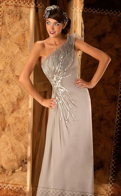 langes abendkleid - Abendkleider Bodenlang Günstig - Langes Abendkleid Online - Mac Duggal Couture Textured Silk Chiffon Abendkleid
