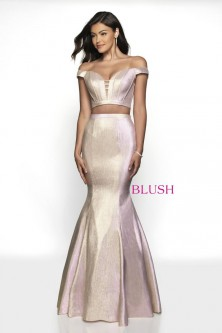df9431aa85 Blush 11714 Shimmer 2 Piece Prom Dress