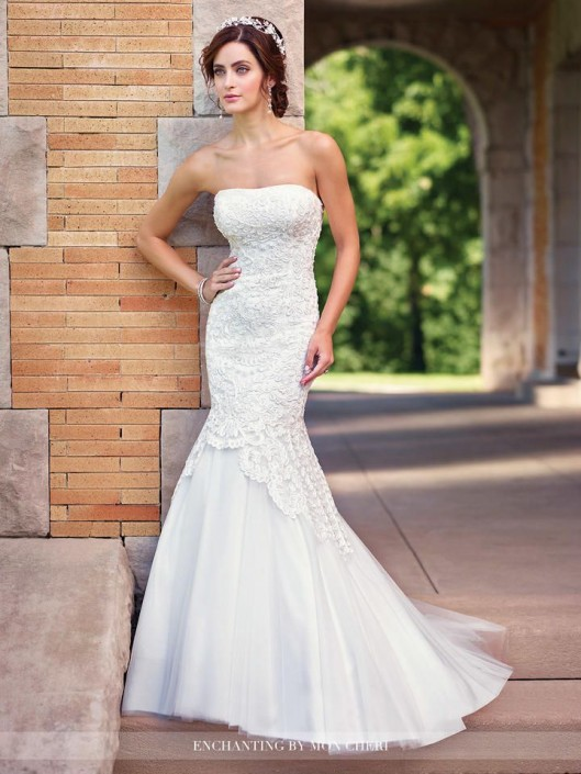 d952764abae1 Enchanting by Mon Cheri 117171 Mermaid Wedding Gown: French Novelty