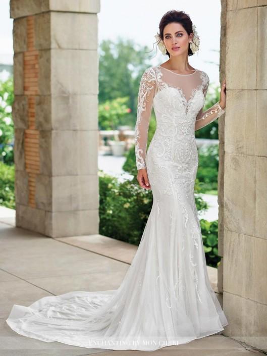 Enchanting by Mon Cheri 117180 Lace Illusion Informal Bridal Gown ...