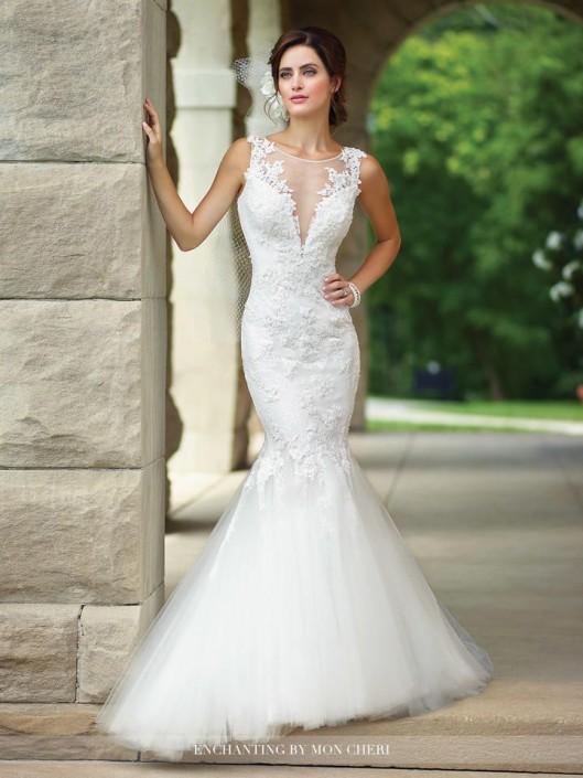 86de7e9cc21a Enchanting by Mon Cheri 117182 Mermaid Wedding Gown: French Novelty