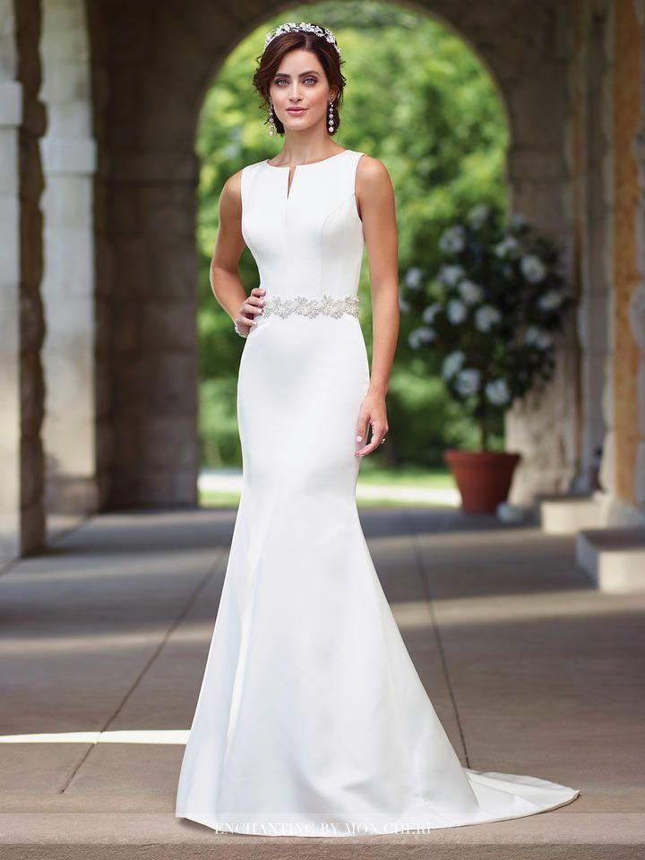 Enchanting By Mon Cheri 117188 Satin Informal Wedding Gown