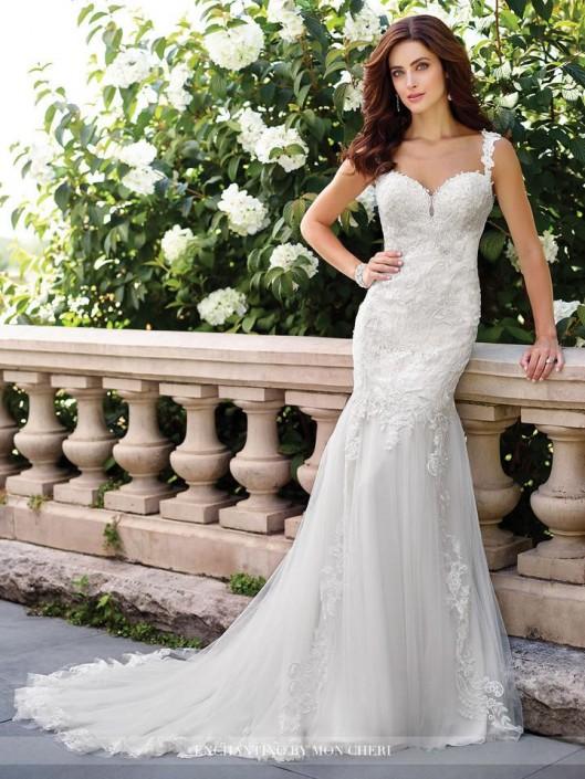 Enchanting by Mon Cheri 117194 Informal Wedding Gown: French Novelty