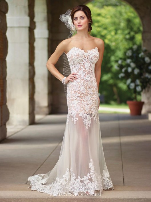 Enchanting by Mon Cheri 117197 Informal Wedding Gown: French Novelty