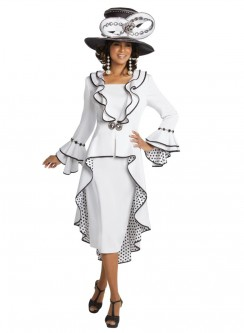 a429670ceee Donna Vinci 11725 High Low Polka Dot Jacket Dress