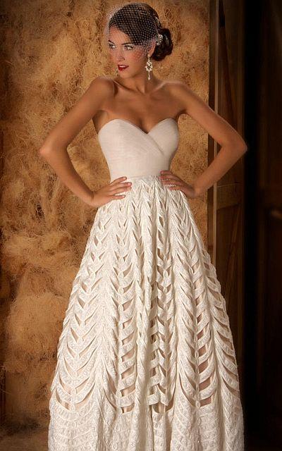 günstige abendkleider - Couture Band Effekt Abendkleid