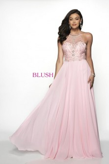 10cc87c58d408 Blush 11734 Prom Dress with Open Strappy Back