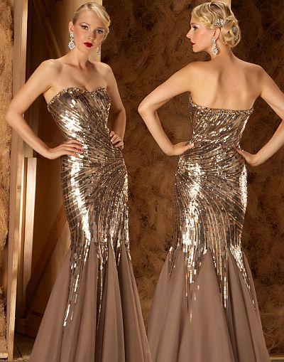 ausgefallene abendkleider - Couture  Pailletten Mermaid Abendkleid