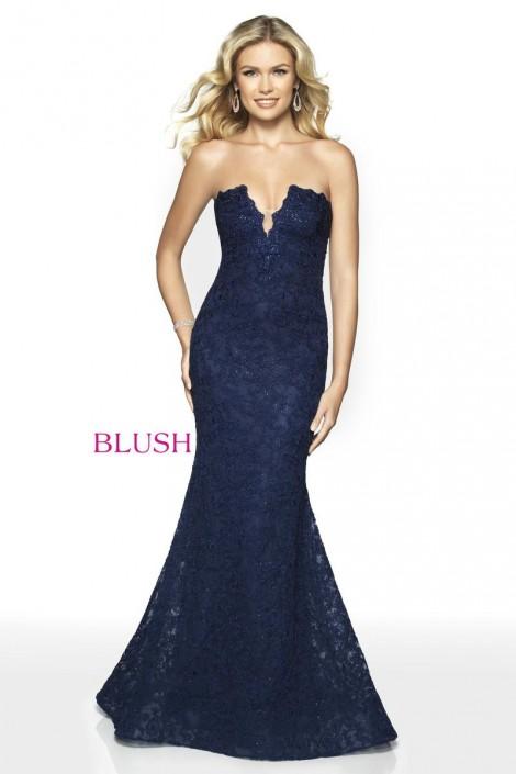 9e93d8fb46db Blush 11779 Lace Mermaid Prom Dress: French Novelty