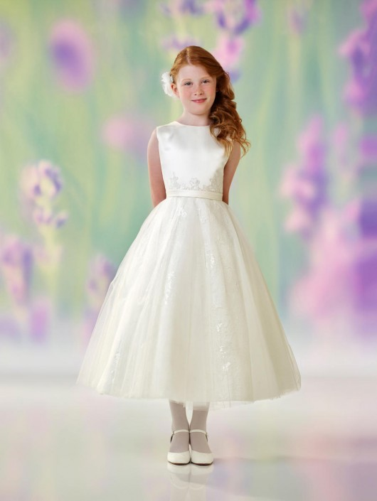 4c9528cc2be Joan Calabrese 118319 Sequin Lace Flower Girls Dress  French Novelty