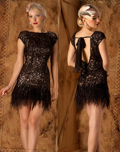 Macduggal Couture Fun And Flirty Feather Tail Dress 1184d