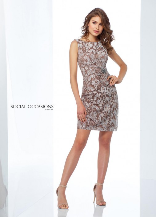 376200d3c17 Social Occasions by Mon Cheri 118868 Lace Cocktail Dress  French Novelty