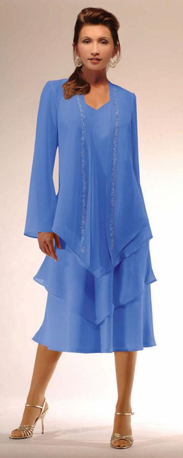 Ursula Tea Length Mother Of The Bride Dress 11893t