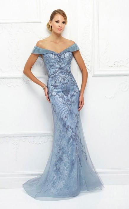Ivonne D 118D08 Off Shoulder Mothers Wedding Dress: French Novelty