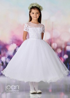 de0009005fd Joan Calabrese by Mon Cheri 119375 Illusion Flower Girls Dress