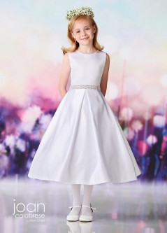 ada83bd8997 Joan Calabrese by Mon Cheri 119382 Bow Back Flower Girls Dress