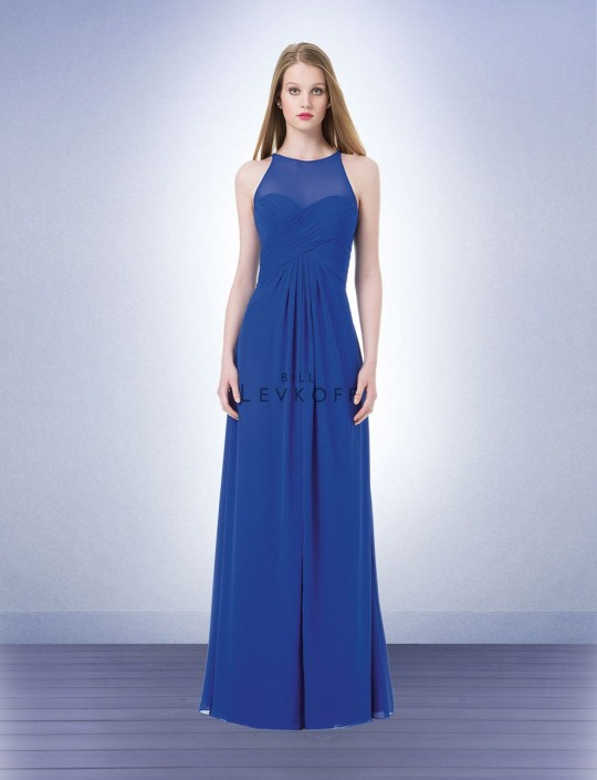 be018cac2e Bill Levkoff 1208 Illusion Chiffon Bridesmaid Gown  French Novelty