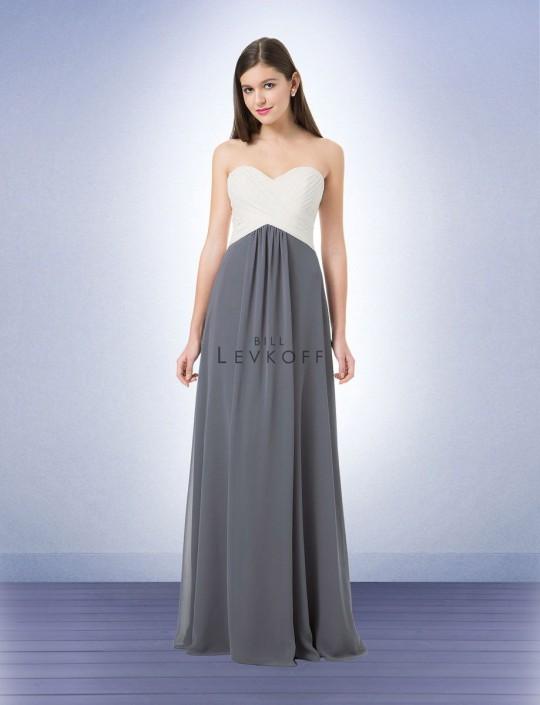 Bill Levkoff 1223 Two Tone Bridesmaid Dress
