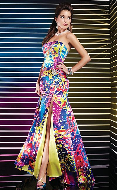 Prom Dresses 2012 Studio 17 Colorful Print Evening Dress 12291 ...