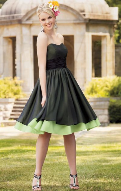 Jordan Two Tone Knee Length Strapless Bridesmaid Dress 123: French ...