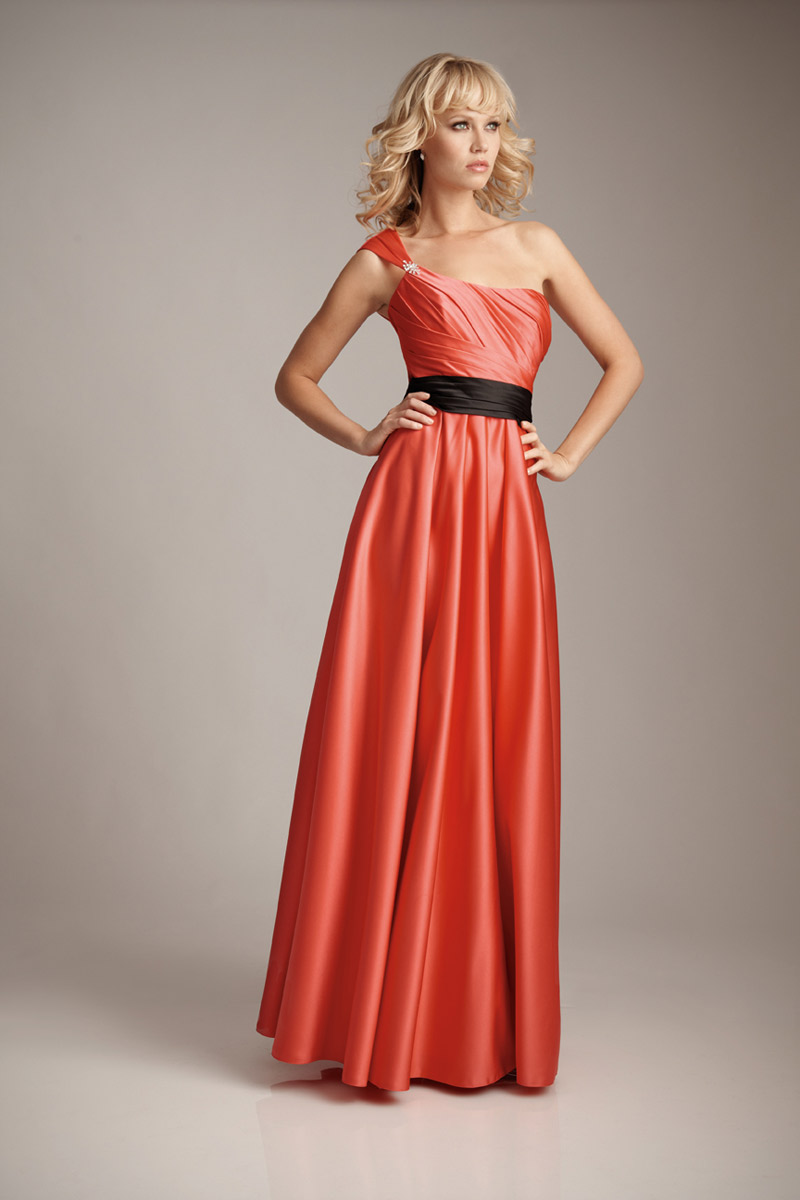 Allure 1235l one shoulder satin long 2pc bridesmaid dress french allure 1235l one shoulder satin long 2pc bridesmaid dress french novelty ombrellifo Image collections