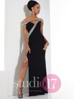 Studio 17 12485 Asymmetrical Gown image