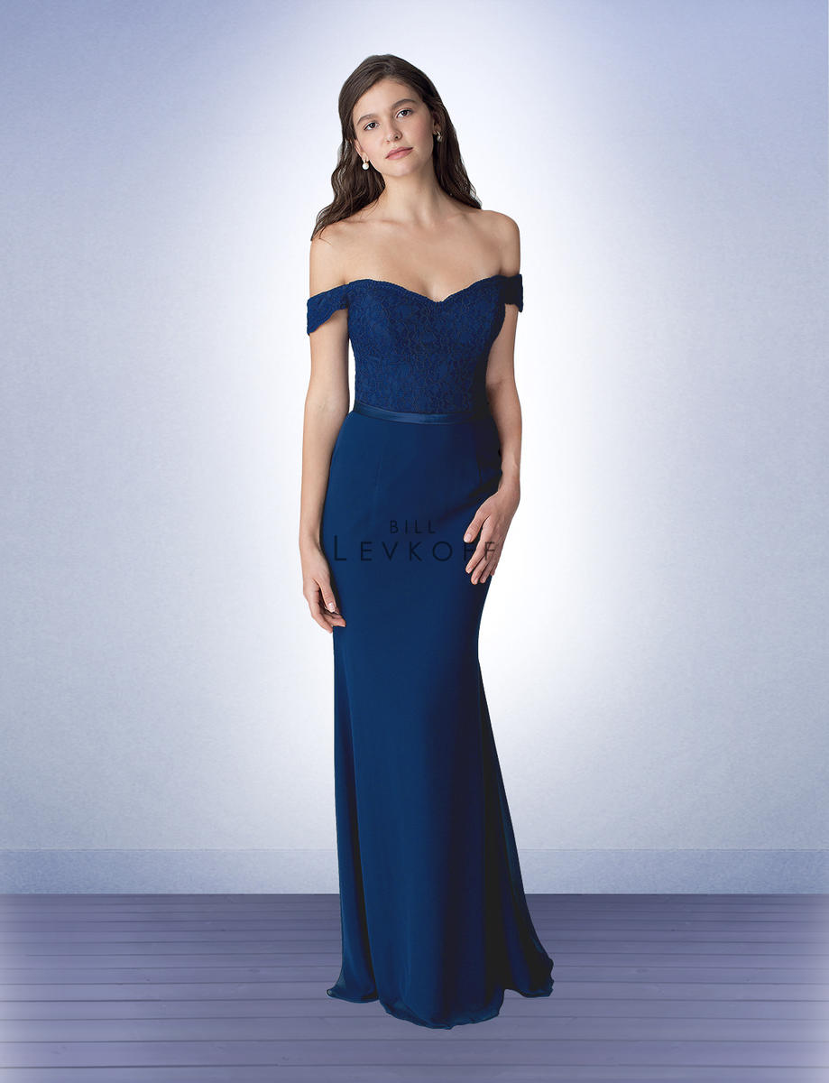 Bill levkoff 1252 off shoulder lace bridesmaid dress french novelty ombrellifo Choice Image