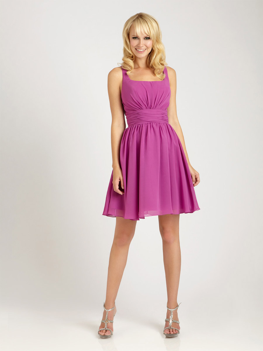 Allure 1256 modern tank short bridesmaid dress french novelty ombrellifo Images