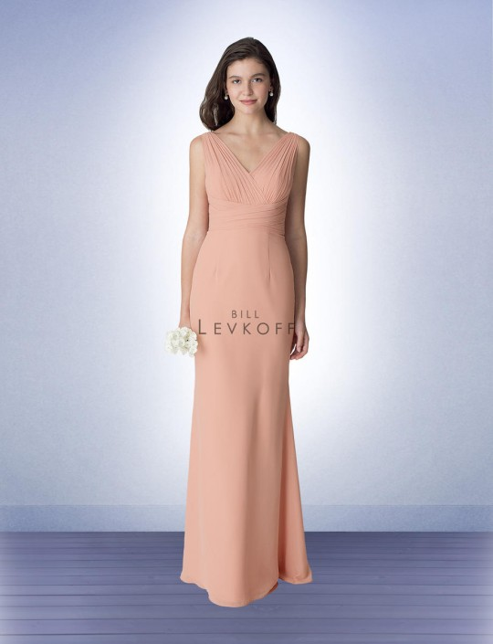 bf63220e7e Bill Levkoff 1275 Chiffon V Neck Bridesmaid Dress  French Novelty