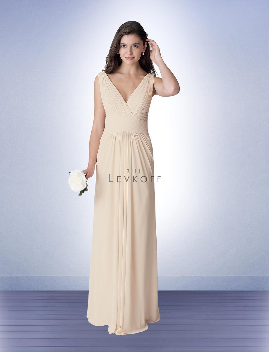 cb0758d5e6e bill levkoff 1277 surplice chiffon bridesmaid dress