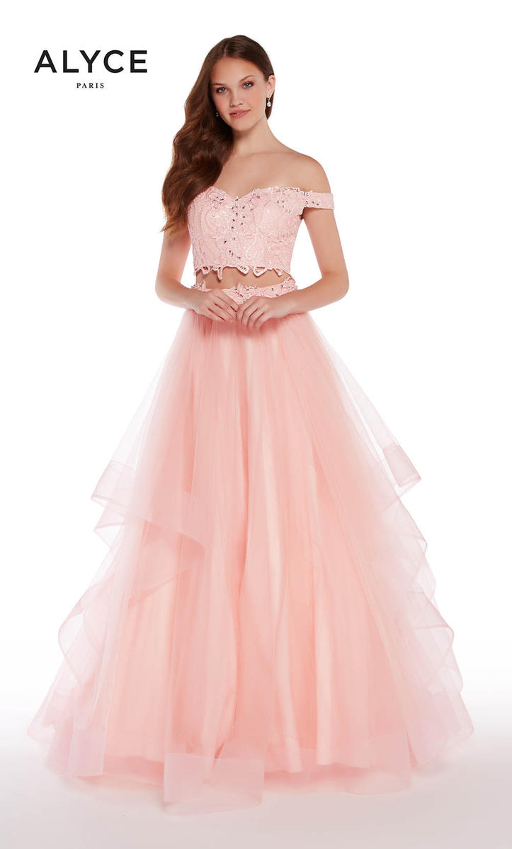 Alyce Paris Exclusive 1300 Off Shoulder Crop Top Prom Dress: French ...