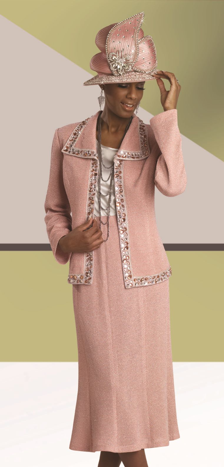 Donna Vinci Knits 13054 Womens 3pc Church Suit French Novelty
