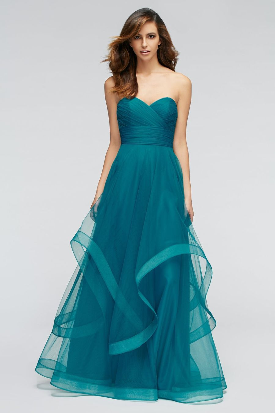 Watters 1310 Florian Layered Bridesmaid Gown: French Novelty