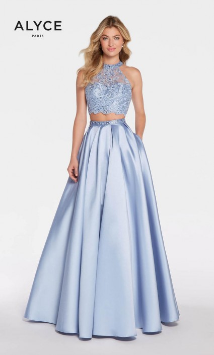 Alyce Exclusive 1312 2 Piece Prom Dress With Pockets French Novelty