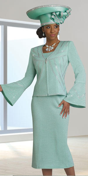 donna vinci knits 13141 womens bell sleeve suit french