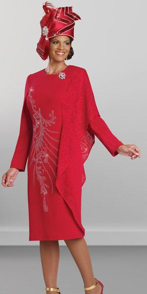 4b145961afd Donna Vinci Knits 13142 Dress with Asymmetrical Drape  French Novelty