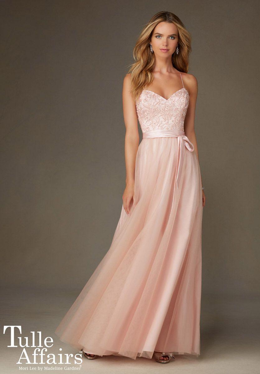 Mori lee tulle affairs 132 long bridesmaid dress french novelty ombrellifo Choice Image