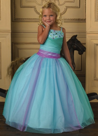 Tiffany Princess Girl Glitter Tulle Pageant Dress 13217 by House of Wu image