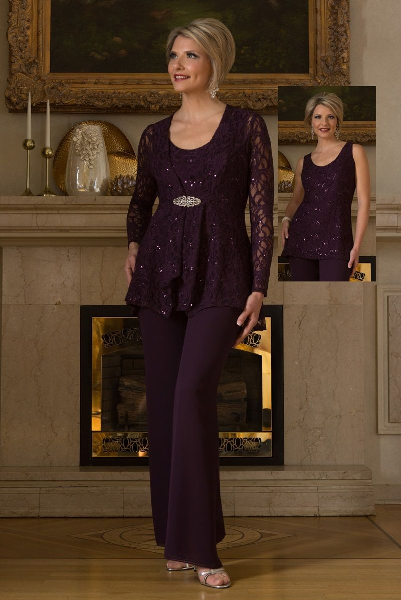 Ursula 13239 Mother Of The Bride Pantsuit French Novelty