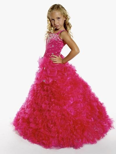 Tiffany Princess Girls Ruffle Organza Pageant Dress 13257: French ...
